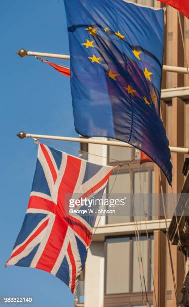 flags i - british and eu flag stock pictures, royalty-free photos & images