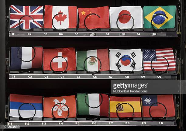flags in a vending machine