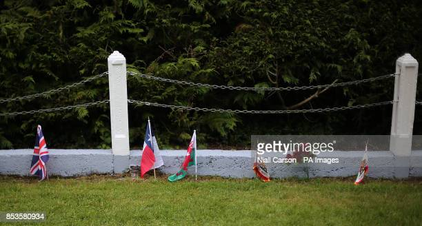Flags in the infants graveyard at Sean Ross Abbey in Roscrea Tipperary which was mother and baby home operated by the Sisters of the Sacred Hearts of...
