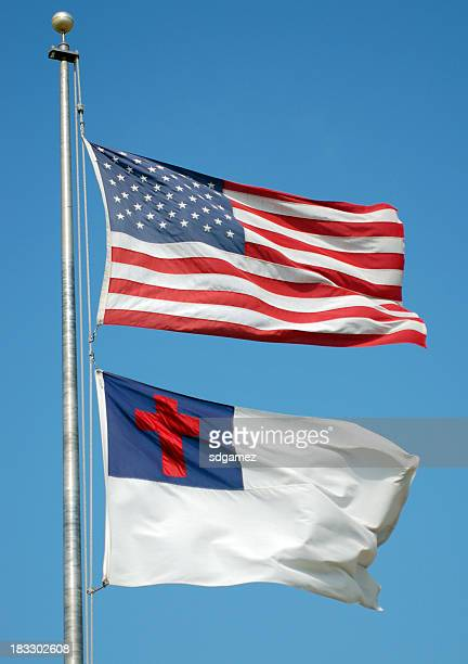 flags of america - christianity stock pictures, royalty-free photos & images