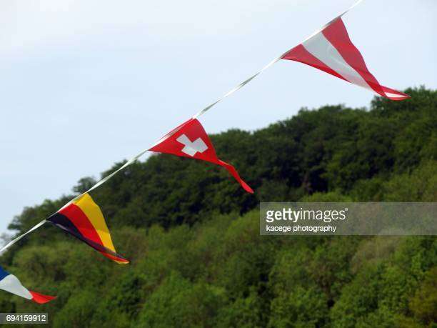 Flags of Germany, Austria and Switzerland