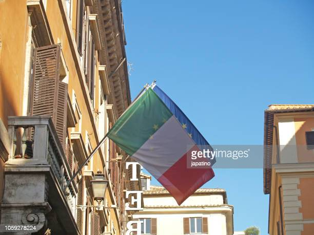 Flags of Italy and the European Union