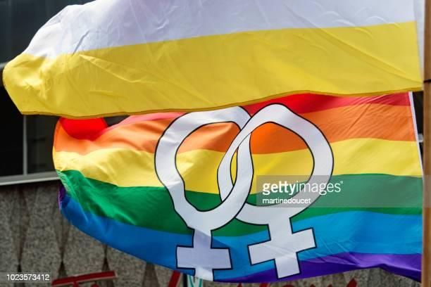 Flaggen der LGBTQ-Pride-Parade in Montreal.