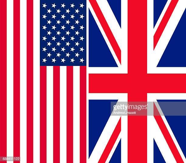 Banderas de los Estados Unidos y Reino Unido