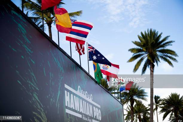 fabbd62e23 flags representing the nations competing in the Hawaiian Pro at... News  Photo