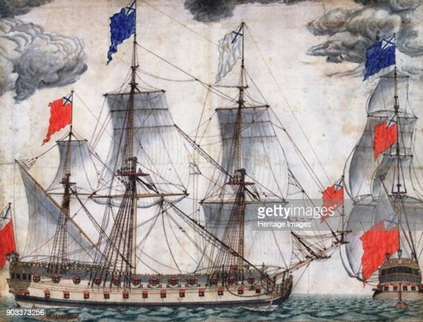 Flagship Goto Predestinatsia built by Peter the Great at Voronezh 1700 Found in the Collection of State Central Navy Museum St Petersburg