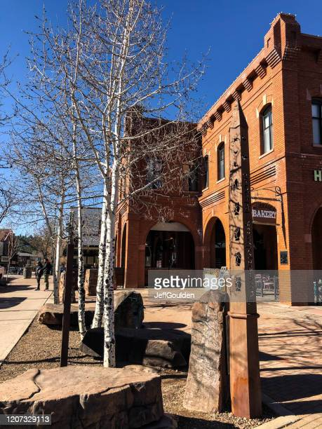 flagstaff peace pole - jeff goulden stock pictures, royalty-free photos & images