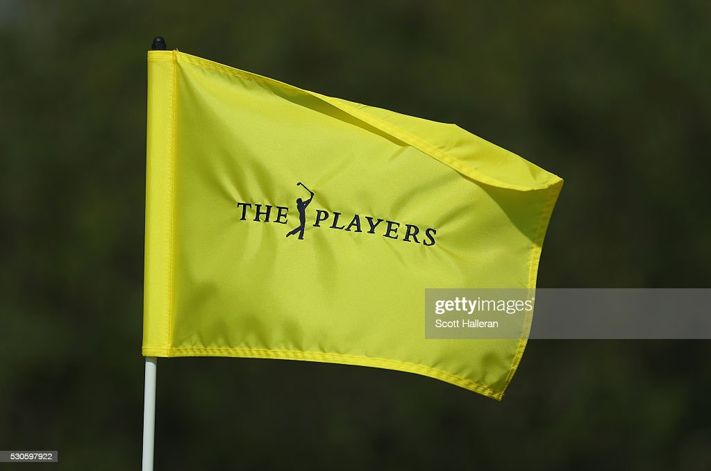 A flagstick is seen during a practice round prior to the start of THE PLAYERS Championship on the Stadium Course at TPC Sawgrass on May 11, 2016 in Ponte Vedra Beach, Florida.