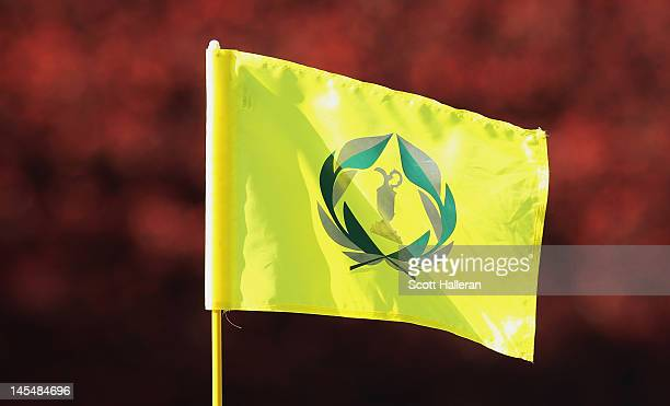A flagstick stands during the first round of the Memorial Tournament presented by Nationwide Insurance at Muirfield Village Golf Club on May 31 2012...