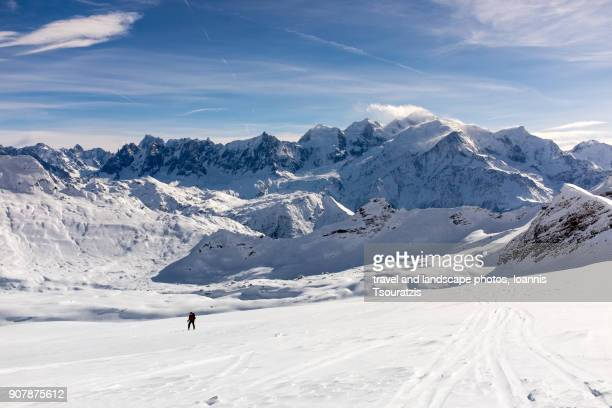 flaine ski resort - telemark stock pictures, royalty-free photos & images