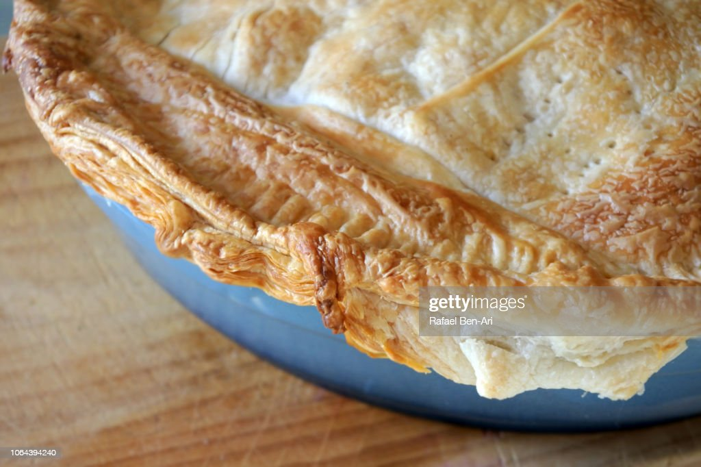 Flaky Pastry of Savoury Pie : Stock Photo