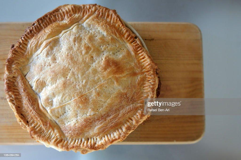 Flaky Pastry of Savoury Pie : Stock Photo