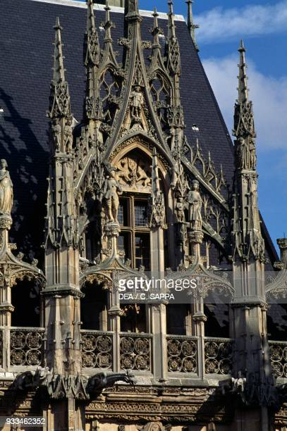 Flamboyant gothic decoration of the Palace of Justice 14991550 Rouen Normandy France 15th16th century