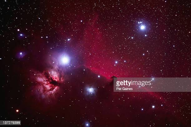 flame and horsehead nebula - nebula stock pictures, royalty-free photos & images