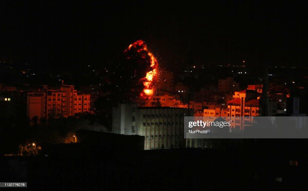 GZA: Israeli Air Strike In Gaza City