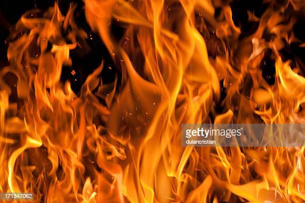 フレームの背景 - 炎 ストックフォトと画像