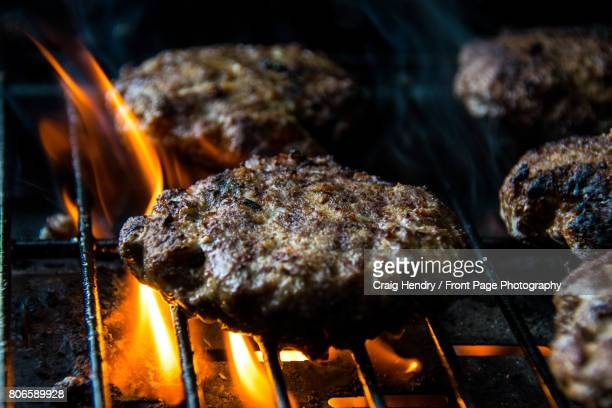 Flame Broiled Hamburgers