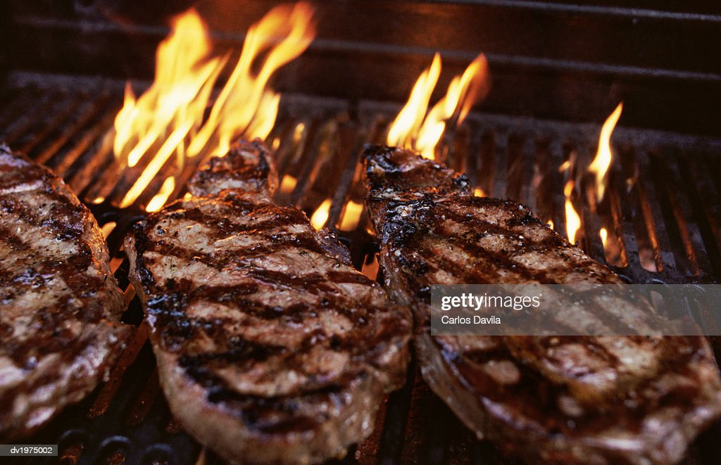Flame Grilled Steak : Stock Photo