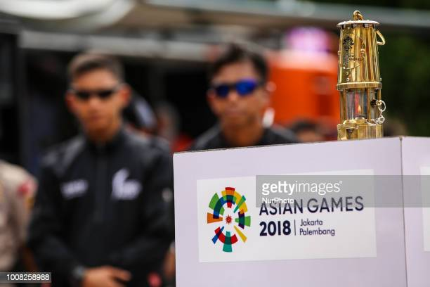 A flame is seen at the beginning of Asian Games 2018 torch relay ahead of the August 18 September 2 games held at Jakarta and Palembang in Banda Aceh...