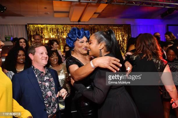 Flame Monroe and Tiffany Haddish attend Tiffany Haddish Black Mitzvah at SLS Hotel on December 03 2019 in Beverly Hills California