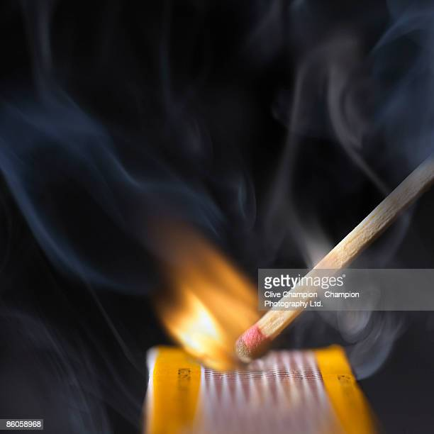 Flame of a striking match