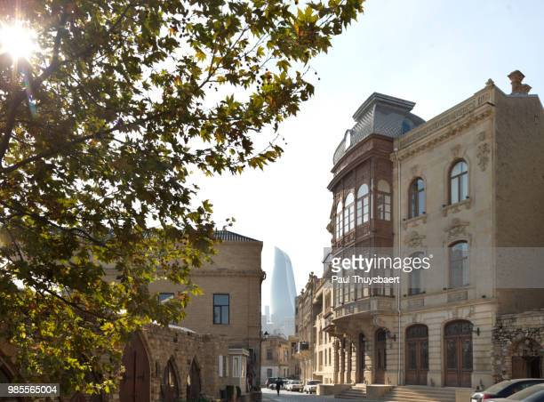 Flame Tower and Old City Baku