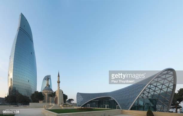 Flame Tower Baku and Fanicular Station