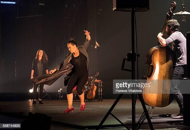 Flamenco artists Rocio Molina and Rosario 'La Tremendita' during their show 'Affections' at the 'Preto e Prata' lounge of Casino Estoril on June 7,...