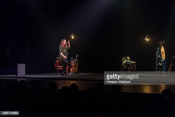 Flamenco artists Rocio Molina and Rosario 'La Tremendita' during their show 'Affections' at the 'Preto e Prata' lounge of Casino Estoril on June 7...