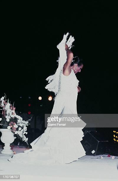 A flamenco dance of the Spanish singer and dancer Lola Flores during a show Madrid Castilla La Mancha Spain