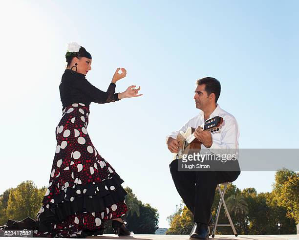 flamenco dancer and guitarist - hugh sitton stock pictures, royalty-free photos & images