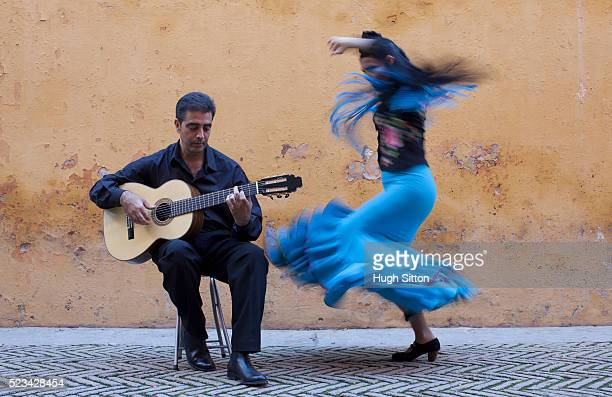 Flamenco dancer and guitarist