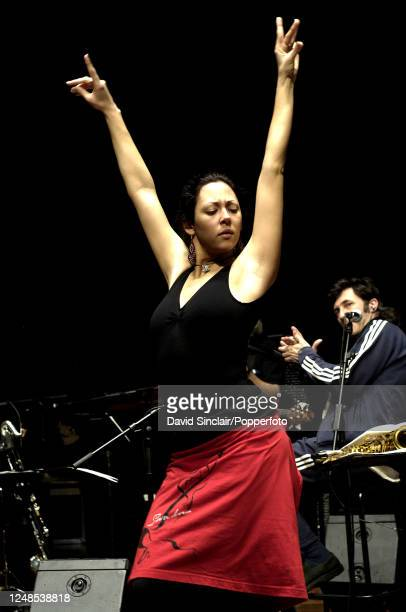 Flamenco dancer Auxi Fernandez performs live on stage at The Queen Elizabeth Hall in London on 19th January 2006.