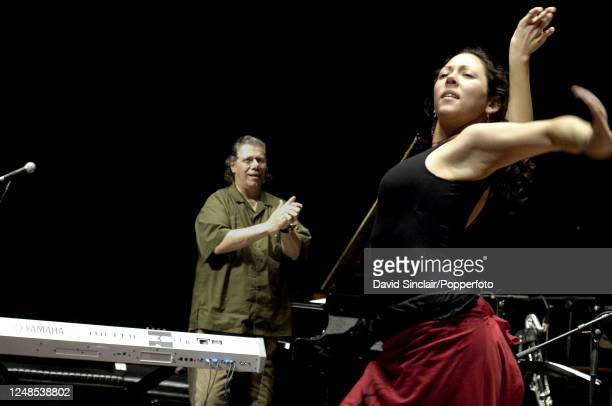 Flamenco dancer Auxi Fernandez performs live on stage with Chick Corea at The Queen Elizabeth Hall in London on 19th January 2006.