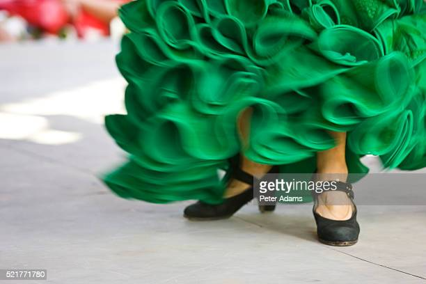 Flamenco Dancer in Green Dress