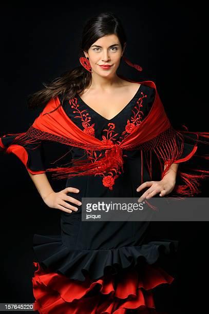 dançarina de flamenco em movimento - flamenco - fotografias e filmes do acervo
