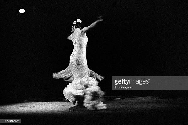 Flamenco dancer in white