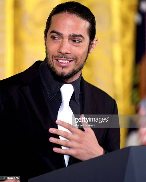 Flamenco dancer Joaquin Cortes in the East Room at the White House on September 15, 2004 for the Hispanic Heritage Month Celebration.