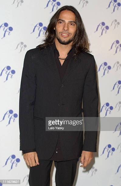 """Flamenco dancer Joaquin Cortes receives a """"FIFI"""" Fragrance Award for his perfume """"Yekipe Joaquin Cortes Man"""" during the Spanish edition of the """"FIFI""""..."""