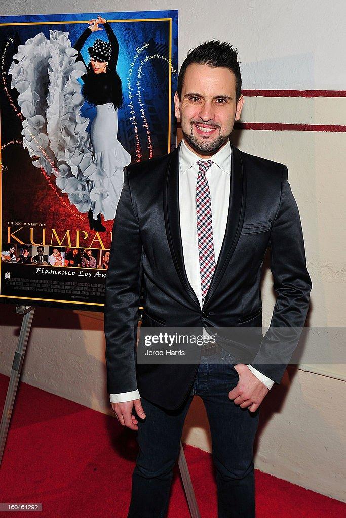 Flamenco dancer Manuel Gutierrez arrives at the premiere of 'Kumpania: Flemenco Los Angeles' at El Cid on January 31, 2013 in Los Angeles, California.