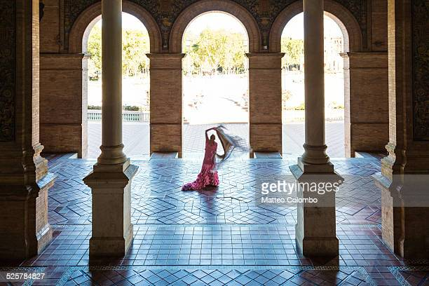 Flamenco dancer performing in Seville, Spain