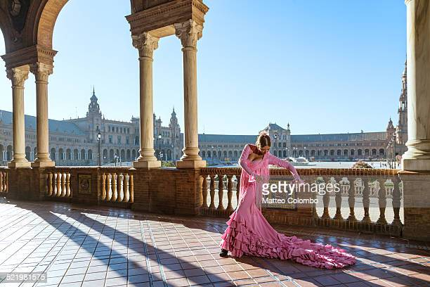 Flamenco dancer performing outdoors in Spain