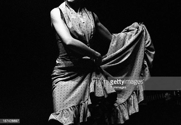 flamenco dancer's skirt - cha cha stock photos and pictures