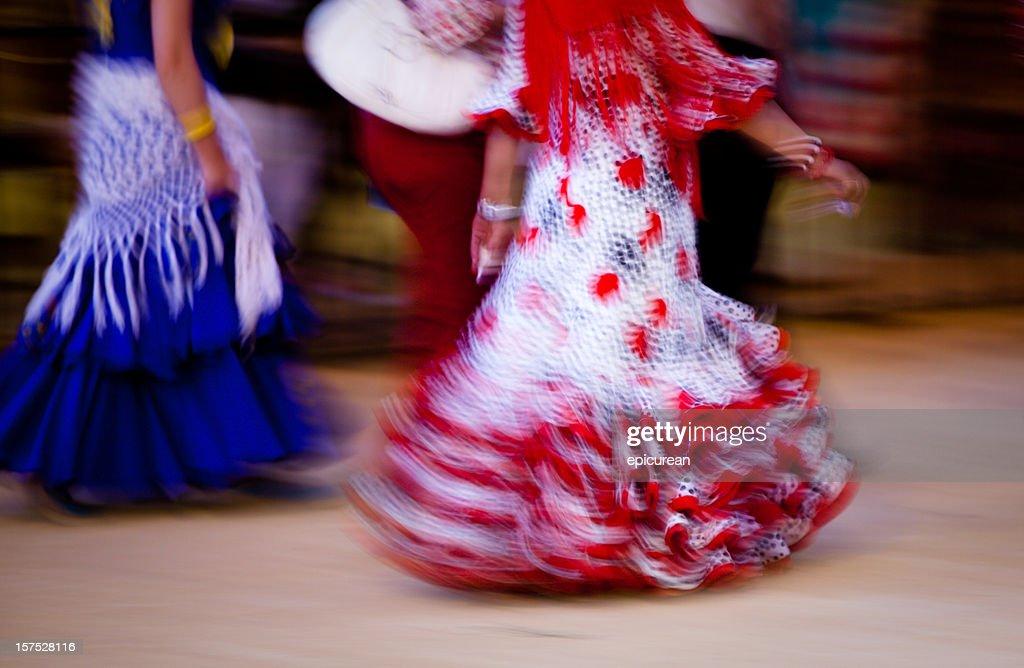 Flamenco dress - motion blur : Stock Photo
