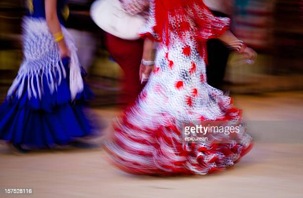 flamenco dress - motion blur - flamenco dancing stock photos and pictures
