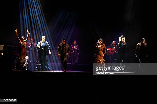 Flamenco Farruquito's group performs Baile Flamenco during the Second Carmen Amaya Flamenco Festival on October 29 2011 in Barcelona Spain on October...