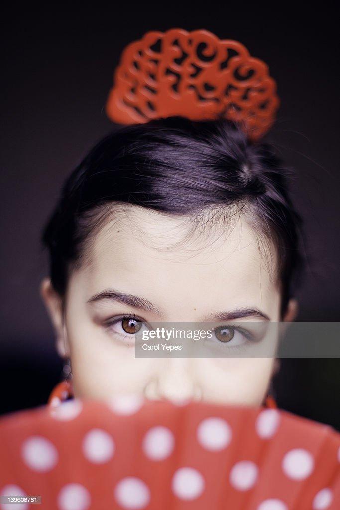 Flamenco girl portrait : Stock Photo