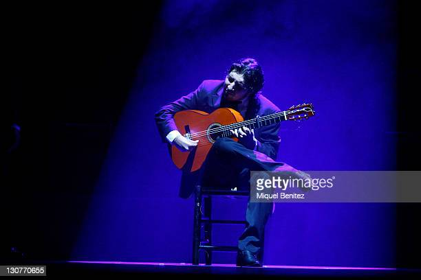 Flamenco guitarist performs Baile Flamenco during the Second Carmen Amaya Flamenco Festival on October 29 2011 in Barcelona Spain