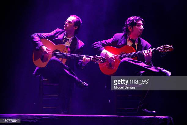 Flamenco guitarists Antonio Rey and Roman Vicenti perform Baile Flamenco during the Second Carmen Amaya Flamenco Festival on October 29 2011 in...