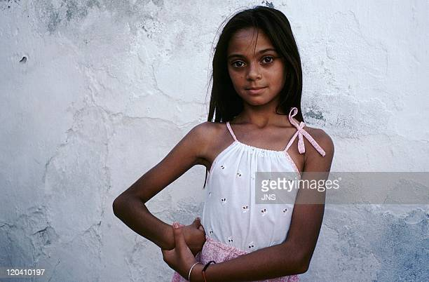 Flamenco in Jerez De La Frontera Andalusia Spain in 1988 Young gypsy woman